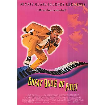Great Balls Of Fire (1989) Original Kino Poster