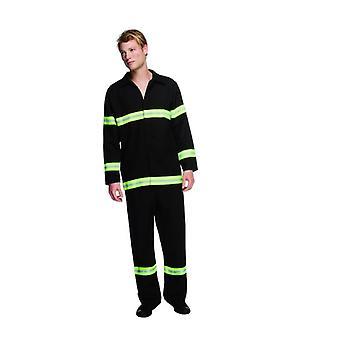 Mens brandweerman Fancy Dress kostuum