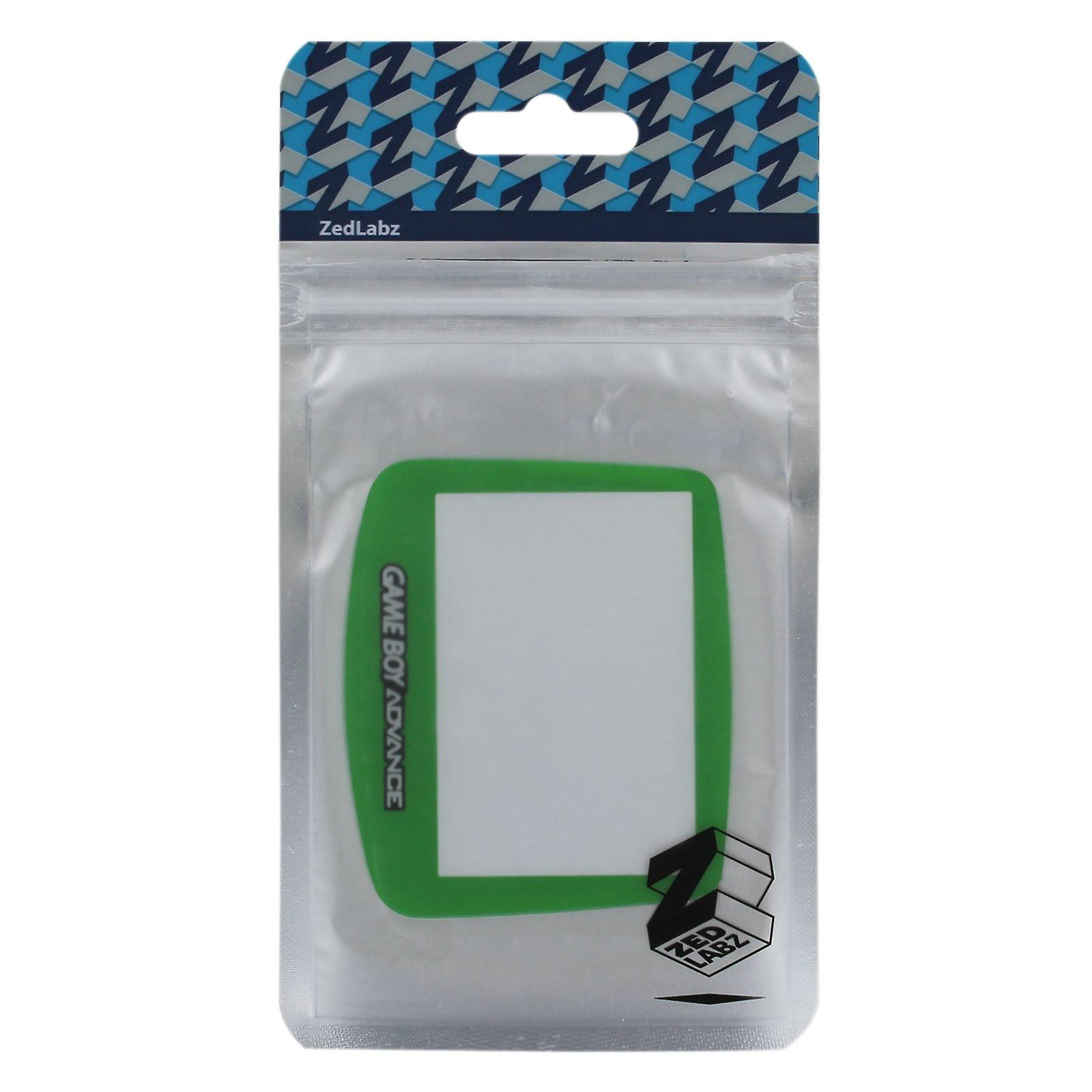 Replacement screen lens plastic cover for nintendo game boy advance - green