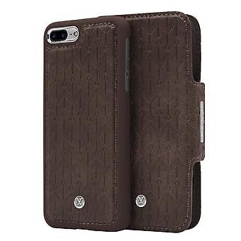 Marvêlle iPhone 7/8 Plus Magnetic Case & Wallet Dark Brown Signature