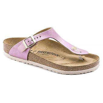 Birkenstock Gizeh NL Sandal 1012904 Washed Metallic Pink NARROW