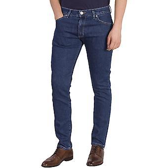Pantalon Wrangler Mens Larston Slim Fitting Jeans - Bleu
