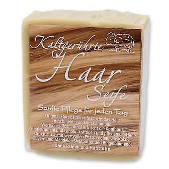 Florex Cold Stirred Handmade Hair Soap with Shea Butter Almond Oil Rosemary Oil Smooth Well Combable Hair Without Palm Oil 150g