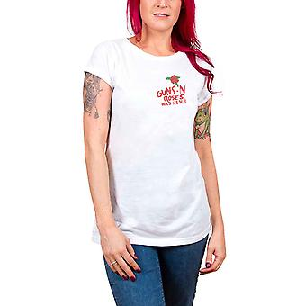Guns N Roses T Shirt Lies Lies Lies Band Logo Official Womens Skinny Fit White