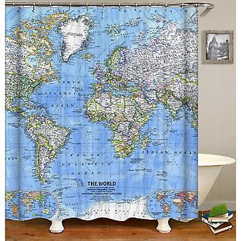 Der Welt-Duschenvorhang
