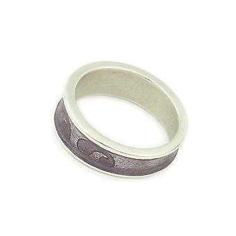 Sterling Silver Traditional Scottish Simply Stylish Royal Purple Enamel Hand Crafted Design Ring