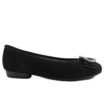 Ara Pisa 53320-71 Black Suede Leather Womens Slip On Shoes