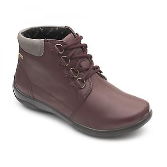 Padders Journey Ladies Leather Extra Wide (2e/3e) Boots Bordeaux