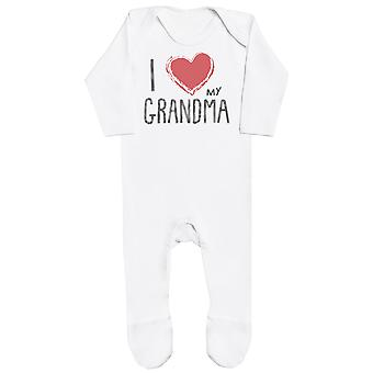 I Love My Grandma Red Heart Baby Romper