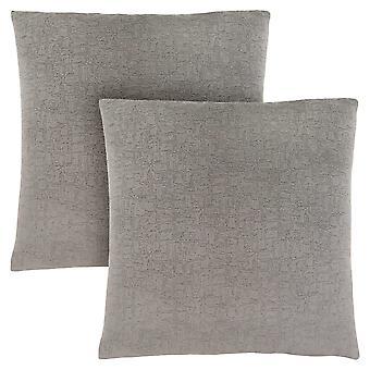 """18"""" x 18"""" Grey, Mosaic Velvet - Pillow 2pcs"""