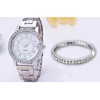 Uhr und Armband-Set mit Swarovski-Kristall