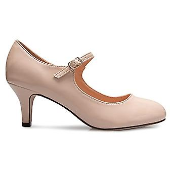 Olivia K Womens Classic Low Mid Heels Mary Jane Pumps - Adorable Round Toe Vi...
