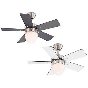 Ceiling fan Marva with light and pull cord 76cm / 30