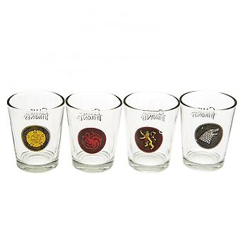 Game Of Thrones Official Shot Glass Set (Pack Of 4)