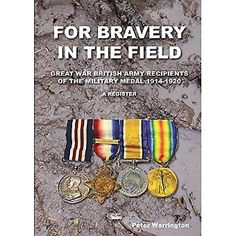For Bravery in the Field Great War British Army Recipients of the Military Medal 1914-1920 a Register