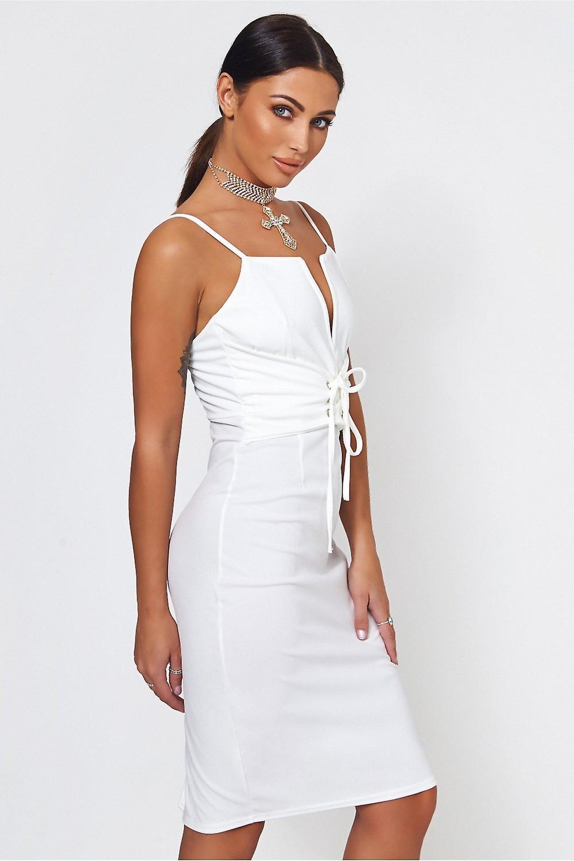 Lola Lace Up Bodycon Dress