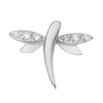 925 sterling sølv rhodium belagt enkelt mate cz cubic zirconia simulert diamant dragonfly stud øredobber smykker gaver