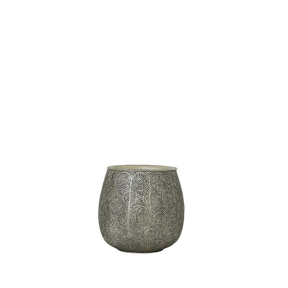 Ensemble de table latérale léger et vivant de 3 Max 60x57cm Chuda Antique Argent