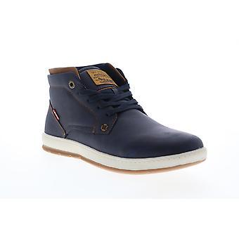 Levis Goshen Ciré UL NB Hommes Bleu Synthétique Low Top Sneakers Chaussures