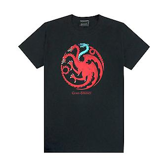 Game of Thrones Ice and Fire Dragons Emblem Män & apos, s svart T-shirt