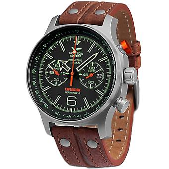 Vostok europe expedition Quartz Analog Man Watch with Cowhide Bracelet 6S21-595H299