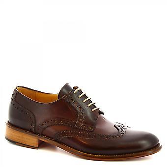 Leonardo Kengät Miesten&s käsintehty brogues oxford kengät poltettu ruskea vasikka nahka