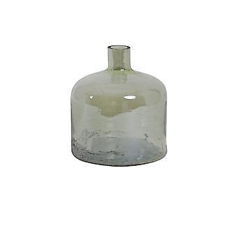 Ljus och levande vas 17,5 x20cm Barinas glas grön lyster