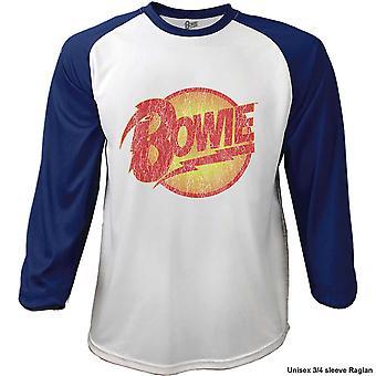 David Bowie Fumando Manga Larga Raglan Camiseta Oficial Hombres Unisex