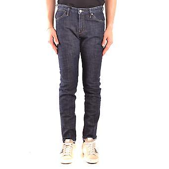 Pt05 Ezbc084058 Men's Blue Cotton Jeans