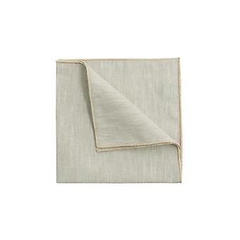 Dobell Mens Cream Herringbone Linen Pocket Square