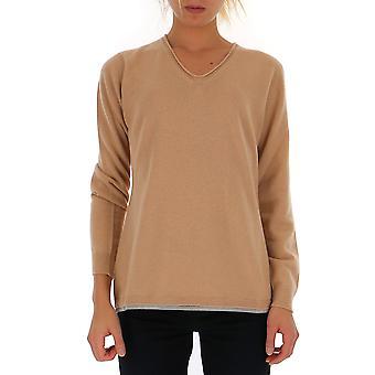 Fabiana Filippi Mad129w620n128097 Women's Nude Wool Sweater