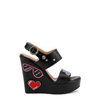 Love Moschino Original Women Spring/Summer Wedge - Black Color 31727