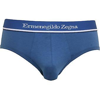 Ermenegildo Zegna Stretch Cotton Brief, Denim Blue