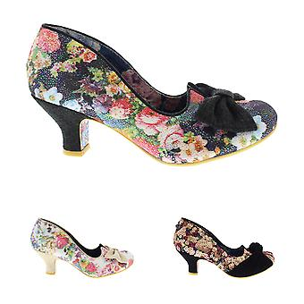 Womens Irregular Choice Dazzle Razzle Low Heels Slip On Court Shoes