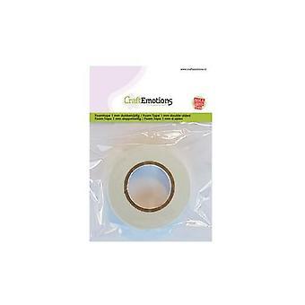 CraftEmotions Skum Tape 1 mm 2 MT - per kartong (65 RL) 3.3010