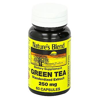 Nature's blend green tea extract 250 mg, capsules, 60 ea