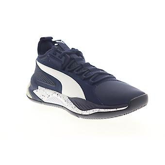 Puma Uproar Core  Mens Blue Low Top Lace Up Athletic Basketball Shoes