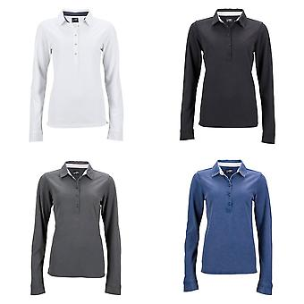 James and Nicholson Womens/Ladies Long-Sleeve Polo