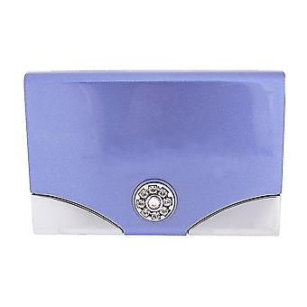 FMG Lilac Business Card Holder & Hidden Mirror, Made With Swarovski Crystals, in Gift Presentation Box