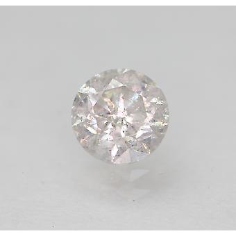 Certified 0.50 Carat G SI2 Round Brilliant Enhanced Natural Diamond 4.91mm 3VG