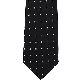 Michelsons of London Diamond Grid Polyester Tie - Black