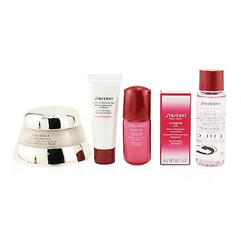 Shiseido Time Fighting Ritual Bio-Performance Advanced Super Revitalizing Cream Set (For All Skin Types): Super Revitalizing Cream 50ml + Cleansing Foam 15ml + Ultimune Concentrate 10ml + Ultimune Eye Concentrate 3ml 5pcs+1pouch
