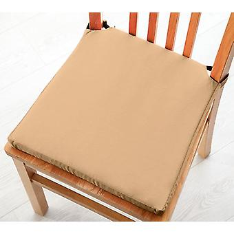 Beige Seat Pad Cushions with Secure Fastening Dining Kitchen Chairs Soft Cotton Twill