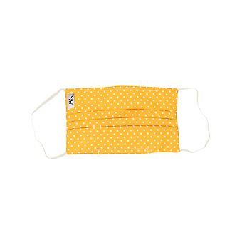Mio HB4 Yellow and White Polka Dot Cotton Face Mask with Removable Nose Wire