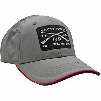 Grunt style kudottu patch kevyt hattu - harmaa