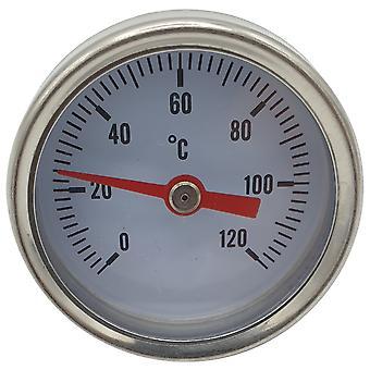 1/4 pouce d'entrée arrière 0-120C Thermomètre Jauge de température 40mm Cadran avant