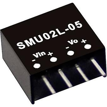 Mean Well SMU02L-05 DC/DC converter (module) 400 mA 2 W No. of outputs: 1 x