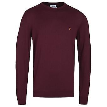 Farah Mullen Merlot Pull à tricots rouges