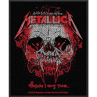 La bande Metallica Patch Wherever I May Roam logo officiel New Black (10 x 7 cm)