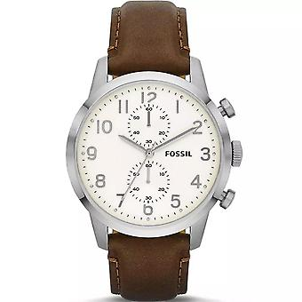 Fossil FS4872 Townsman Chronograph Brown Leather Men's Watch